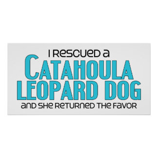 I Rescued a Catahoula Leopard Dog (Female Dog) Poster