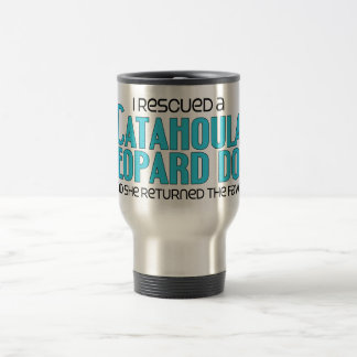 I Rescued a Catahoula Leopard Dog (Female Dog) Travel Mug