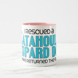 I Rescued a Catahoula Leopard Dog (Female Dog) Two-Tone Coffee Mug