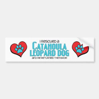 I Rescued a Catahoula Leopard Dog (Male Dog) Car Bumper Sticker