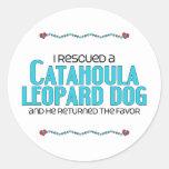 I Rescued a Catahoula Leopard Dog (Male Dog) Classic Round Sticker