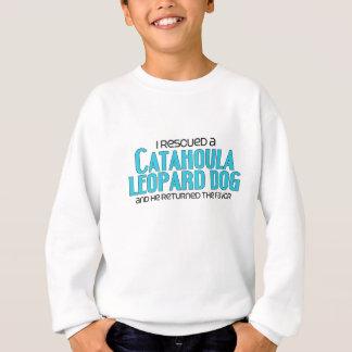 I Rescued a Catahoula Leopard Dog (Male Dog) Sweatshirt