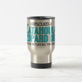 I Rescued a Catahoula Leopard Dog (Male Dog) Travel Mug