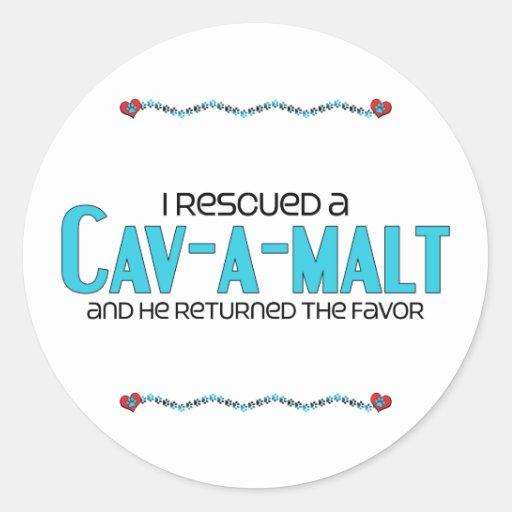 I Rescued a Cav-A-Malt (Male) Dog Adoption Design Stickers