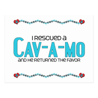 I Rescued a Cav-A-Mo (Male) Dog Adoption Design Postcard