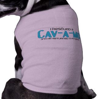 I Rescued a Cav-A-Mo (Male) Dog Adoption Design Shirt