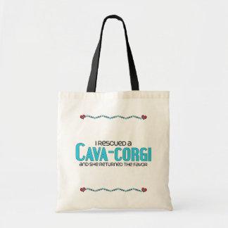 I Rescued a Cava-Corgi (Female) Dog Adoption Tote Bag
