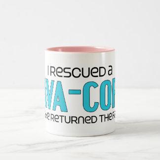 I Rescued a Cava-Corgi (Male) Dog Adoption Design Two-Tone Coffee Mug