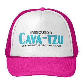 I Rescued a Cava-Tzu (Male) Dog Adoption Design Trucker Hat