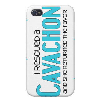 I Rescued a Cavachon (Female) Dog Adoption Design iPhone 4 Covers
