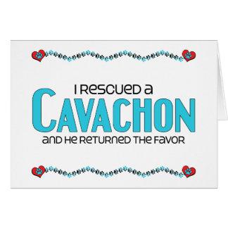 I Rescued a Cavachon (Male) Dog Adoption Design Card