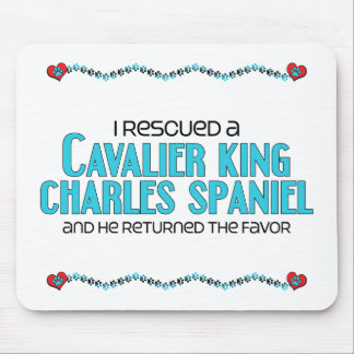 I Rescued a Cavalier King Charles Spaniel (Male) Mouse Pad