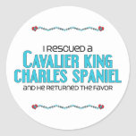 I Rescued a Cavalier King Charles Spaniel (Male) Stickers