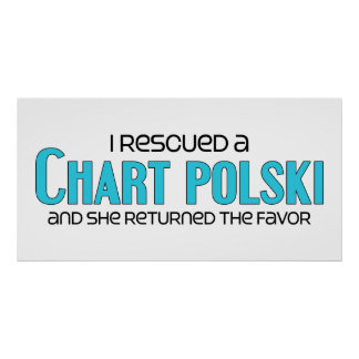 I Rescued a Chart Polski (Female Dog) Poster