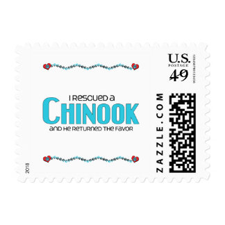I Rescued a Chinook (Male Dog) Postage