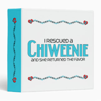 I Rescued a Chiweenie (Female) Dog Adoption Design Vinyl Binders