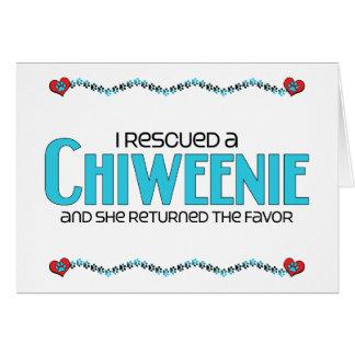 I Rescued a Chiweenie (Female) Dog Adoption Design Greeting Card
