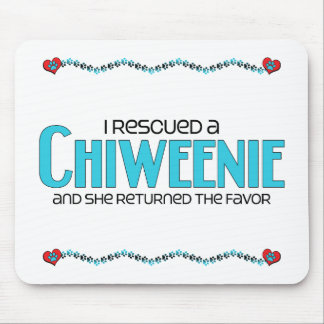 I Rescued a Chiweenie (Female) Dog Adoption Design Mouse Pad