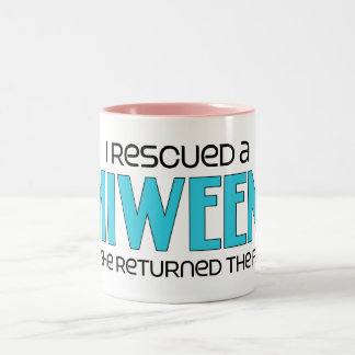 I Rescued a Chiweenie (Female) Dog Adoption Design Coffee Mug