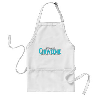 I Rescued a Chiweenie (Male) Dog Adoption Design Adult Apron