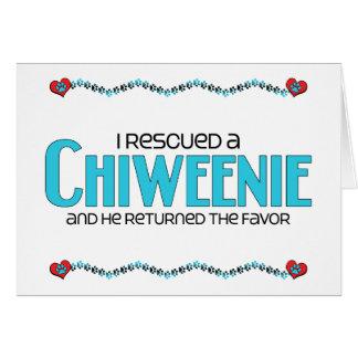 I Rescued a Chiweenie (Male) Dog Adoption Design Greeting Card