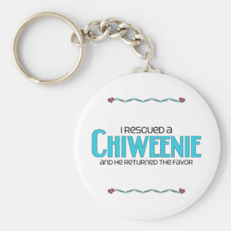 I Rescued a Chiweenie (Male) Dog Adoption Design Basic Round Button Keychain