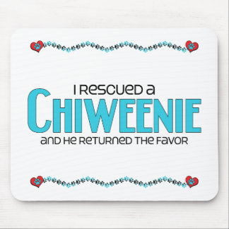 I Rescued a Chiweenie (Male) Dog Adoption Design Mouse Pad