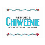 I Rescued a Chiweenie (Male) Dog Adoption Design Post Cards