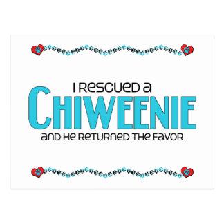 I Rescued a Chiweenie (Male) Dog Adoption Design Postcard