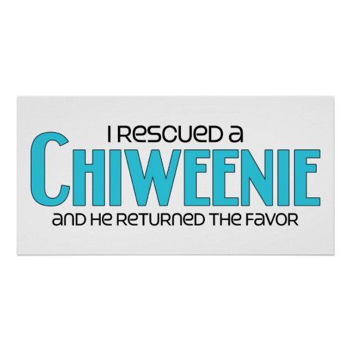 I Rescued a Chiweenie (Male) Dog Adoption Design Print