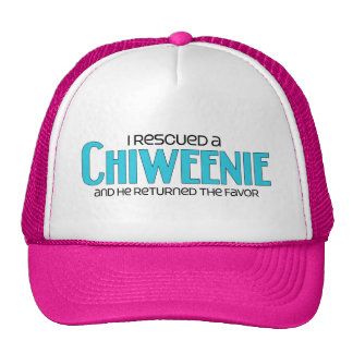I Rescued a Chiweenie (Male) Dog Adoption Design Trucker Hat