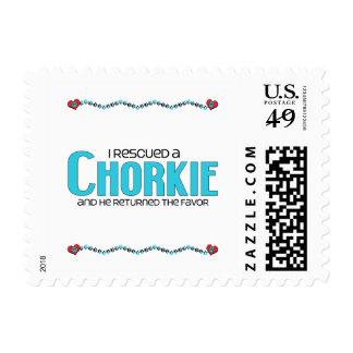 I Rescued a Chorkie (Male) Dog Adoption Design Postage Stamp