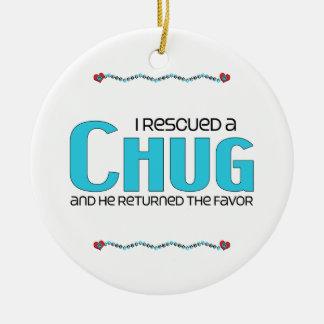 I Rescued a Chug (Male) Dog Adoption Design Ceramic Ornament