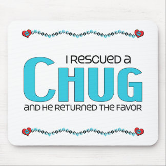 I Rescued a Chug (Male) Dog Adoption Design Mouse Pad