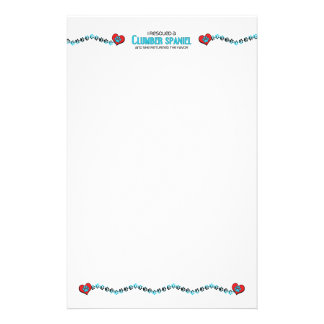 I Rescued a Clumber Spaniel (Female Dog) Personalized Stationery