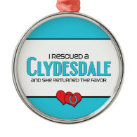 I Rescued a Clydesdale (Female Horse) Ornament