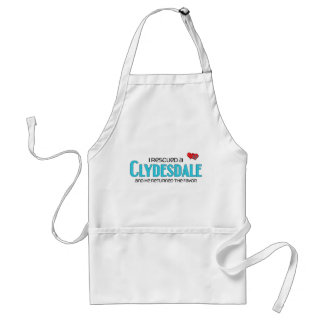 I Rescued a Clydesdale (Male Horse) Apron