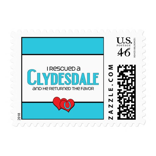 I Rescued a Clydesdale (Male Horse) Postage