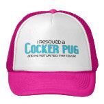 I Rescued a Cocker Pug (Male) Dog Adoption Design Trucker Hat