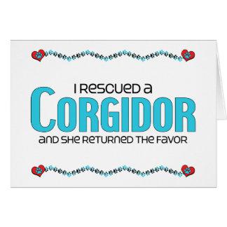 I Rescued a Corgidor (Female) Dog Adoption Design Greeting Card