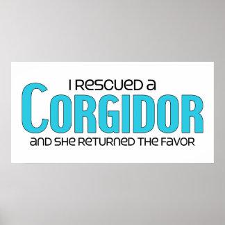 I Rescued a Corgidor (Female) Dog Adoption Design Poster