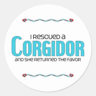 I Rescued a Corgidor (Female) Dog Adoption Design Sticker