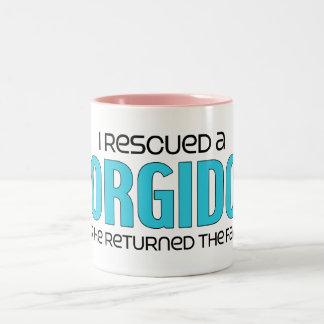 I Rescued a Corgidor (Male) Dog Adoption Design Two-Tone Coffee Mug