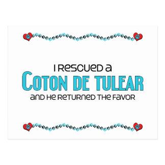 I Rescued a Coton de Tulear (Male Dog) Postcard