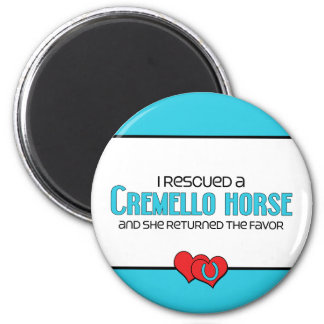 I Rescued a Cremello Horse (Female Horse) Magnet