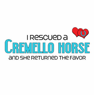 I Rescued a Cremello Horse (Female Horse) Photo Cut Outs