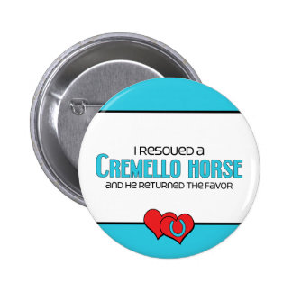 I Rescued a Cremello Horse (Male Horse) Button