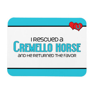 I Rescued a Cremello Horse (Male Horse) Magnet