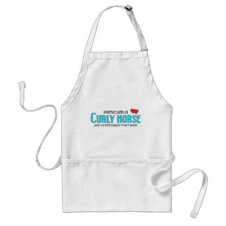I Rescued a Curly Horse (Male Horse) Adult Apron
