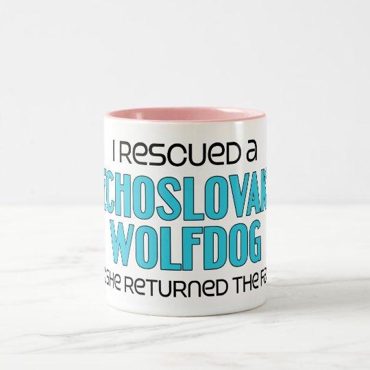 I Rescued a Czechoslovakian Wolfdog (Female Dog) Two-Tone Coffee Mug